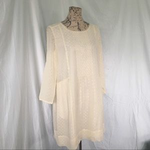 Madewell Cream Silk Voila Dress